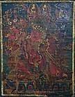 Sino-Tibetan Thangka of Hayagriva 16-17th Century