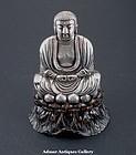 A Silver Buddha On Lotus 19th Century