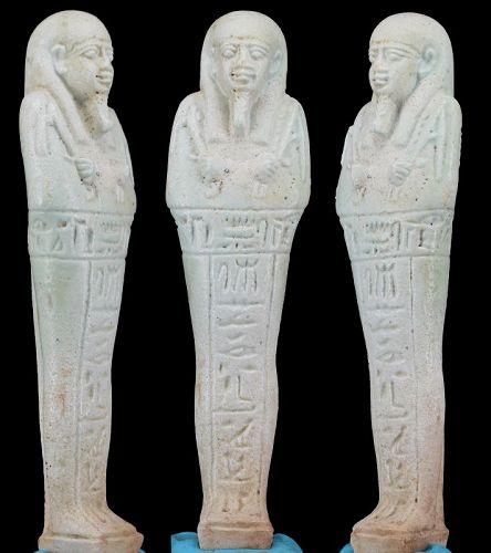 Ancient egyptian faience ushabti for Padusir - 13,1cm