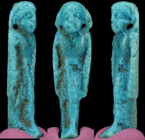 Rar fayence ushabti amulet 4,5cm 1,7 inch