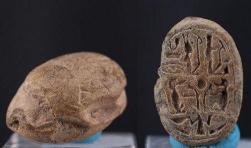 Ancient egyptian steatite scarab