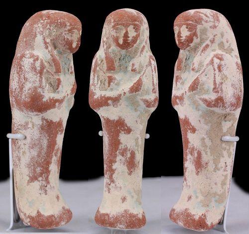 Ancient egyptian clay shabti 11,1 cm