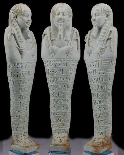 Ancient egyptian faience ushabti for Padusir - 19,6cm