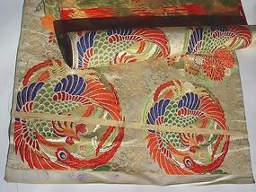 Beautiful Nishijin Silk Obi Roll - full length
