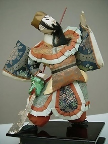 Antique Japanese Doll,  Guan Yu, Green Dragon Halberd