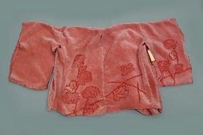 Old Shibori Tie-dye Red Fabric