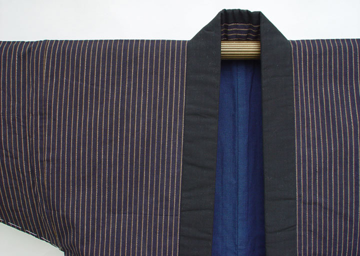 Japanese Cotton Hanten Jacket - Stripes and Lined