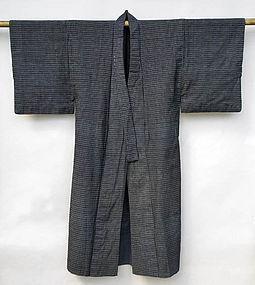 Japanese Kasuri Kimono, small pattern, Fully Lined