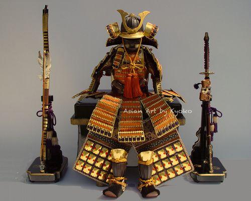 Samurai Armor Yoroi Kabuto display for Japanese Boys Day