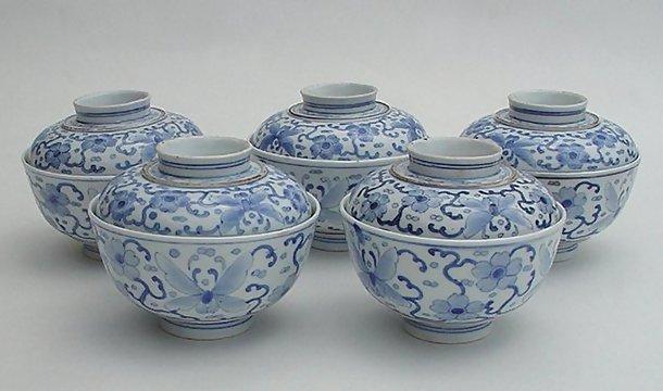 Hirado Blue and White Sometsuke bowls