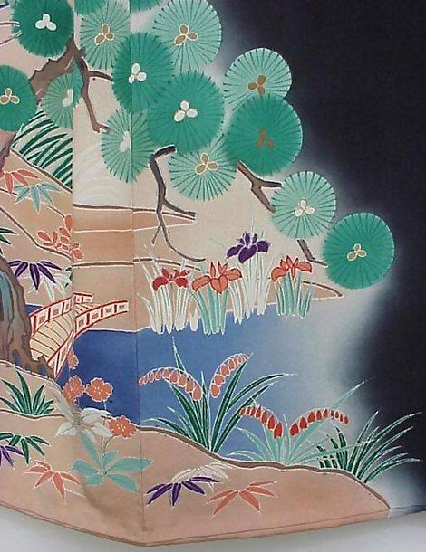 Black Kimono with Beautiful View of Kyoto