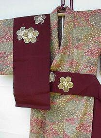 Very elegant Silk Kimono with Obi