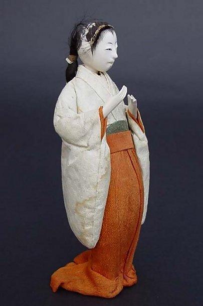 Antique Japanese Hina Dolls Ladies-in-Waiting Jyokan