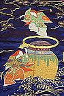 "Japanese Antique Fukusa Gift Cover ""Shojyo"""