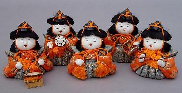 Cute Kimekomi Ningyo Musician Hina Dolls