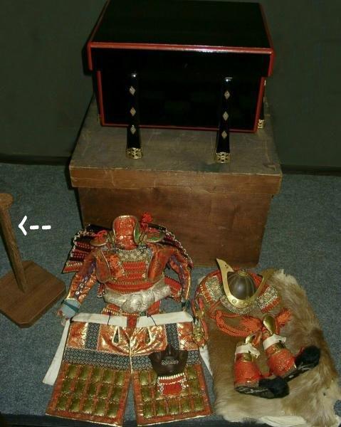Antique Samurai's Armor Set for Japanese Boy's Day
