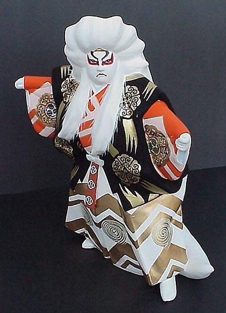 """Large Hakata Doll, Noh """"Shishi-mai"""" Dance"""
