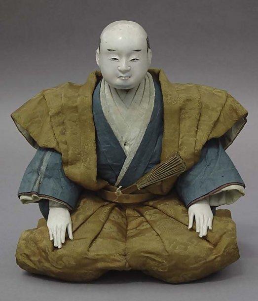 Antique Japanese Samurai doll, Edo Daimyo in Kamishimo