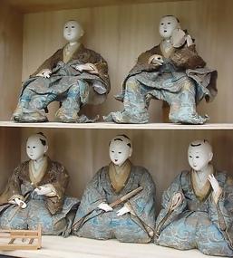Antique Japanese Hina Dolls, Large Edo Musician Ningyo