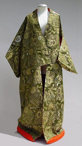 Elegant Antique Japanese Wedding Kimono Uchikake Gown