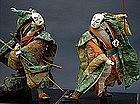 Large Samurai dolls, Old Japanese Takeda Theater Dolls