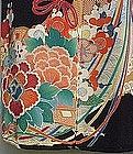 "Black Kimono ""Hana-kago"" Flower Bascket"