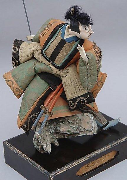 Antique Japanese Doll, Takeda Ningyo, Jyoruri Samurai