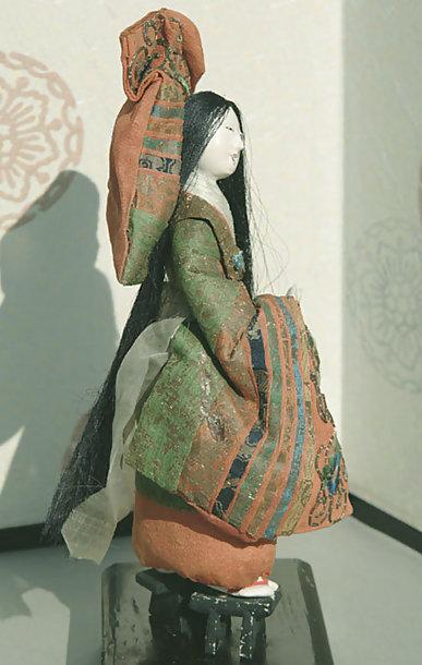 Antique Takeda Ningyo, Noh Okina Dancer Female Doll
