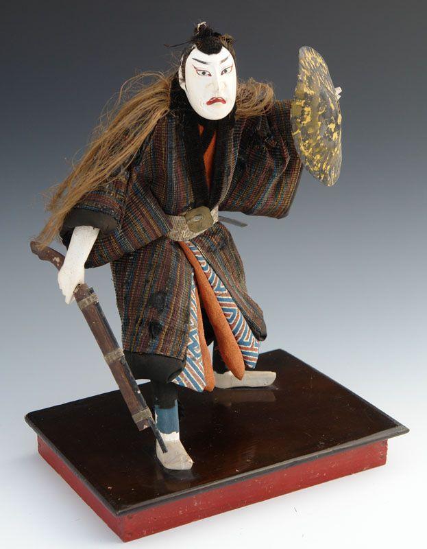 Japanese Theater Doll with Matchlock Gun, Chushingura 47 Ronin