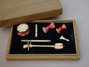 Japanese Doll Accessory, Miniture Music Instruments