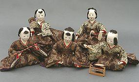 Old Japanese Hina Dolls, Cute Musician Ningyo