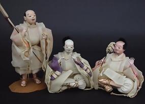 Three Servants Dolls, Japanese Hina Festival Doll