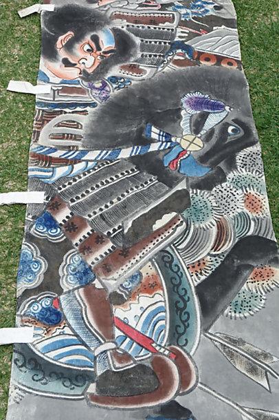 Antique Nobori Banner, Seven Spears of Shizugatake