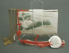 Elegant White Antique Japanese Tissue Holder, Kanzashi