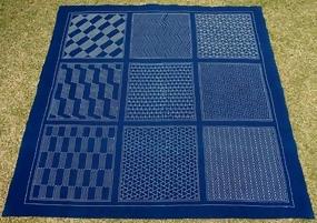 Large Cotton Cloth, Geometric Designs, Sashiko Stitch