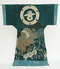 Japanese Yogi, Kimono Shape Futon Cover, Phoenix