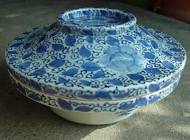Large Imari Lidded Bowl