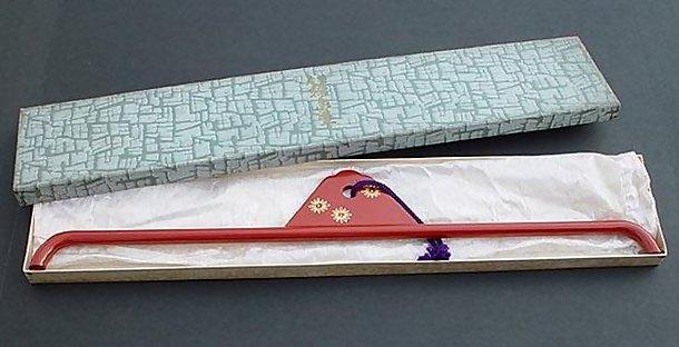 Antique Kimono Hanger: Wajima Lacquer