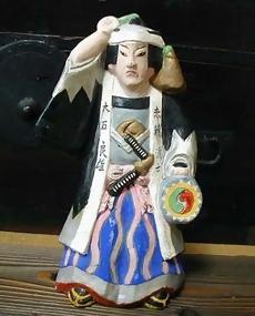 Japanese Clay Doll - Samurai from 47 Ronin