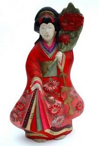 Japanese Clay Doll, Lovely Standing Girl