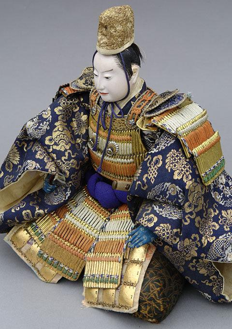 Japanese Antique Musha Ningyo Doll, Emperor General