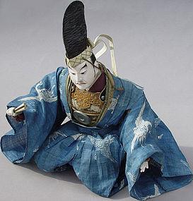 Antique Japanese Kabuki Doll in Noh Costume