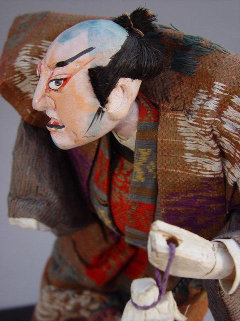Antique Takeda Ningyo (doll), Kabuki Samurai
