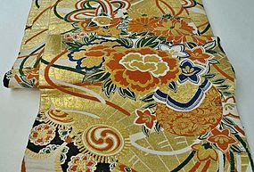 Gold Nishijin Japanese Silk Obi