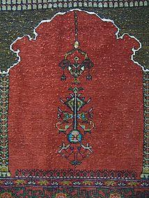 A Hand-Made Wool Prayer Rug, Persia or Caucasus