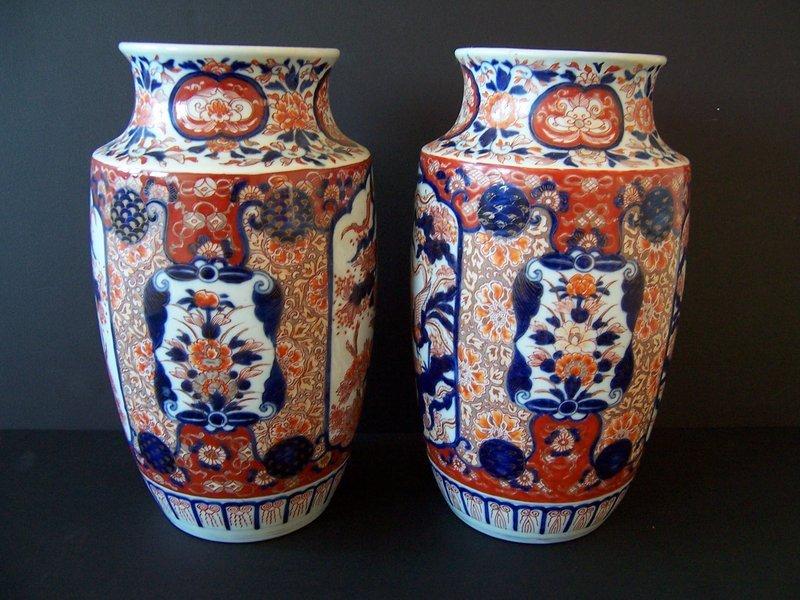 A Large and Regal Pair of Imari Vases, Meiji 1868-1912