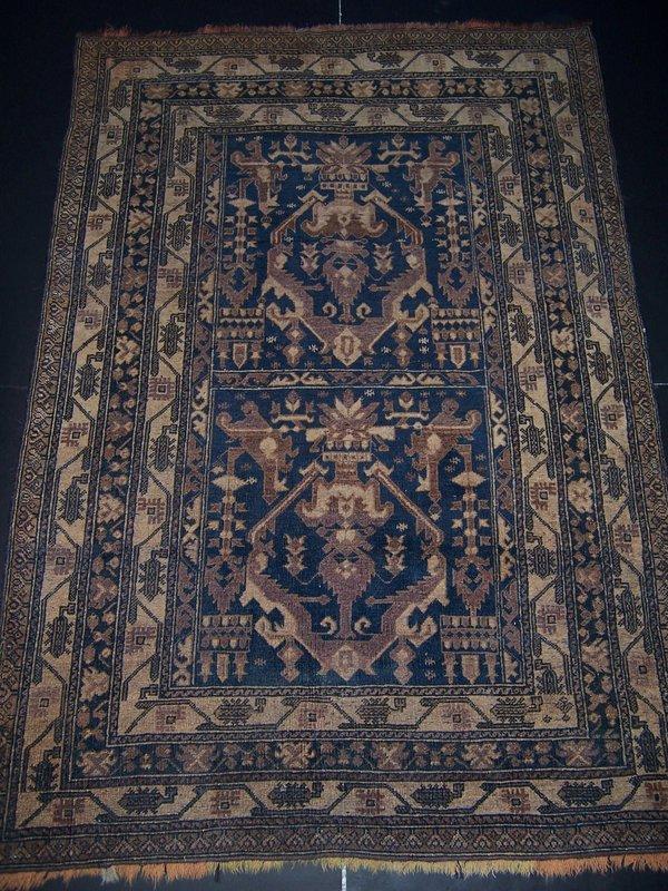 A Fine Afghani Tribal Rug, Handmade & Mineral Dyes