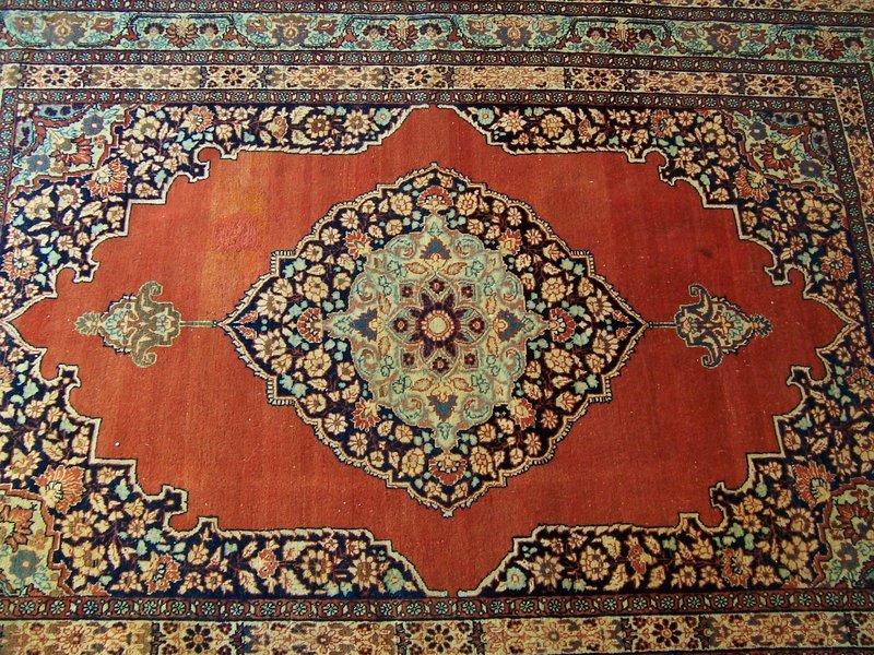 A Beautiful Antique Tabriz Rug, late 19th century