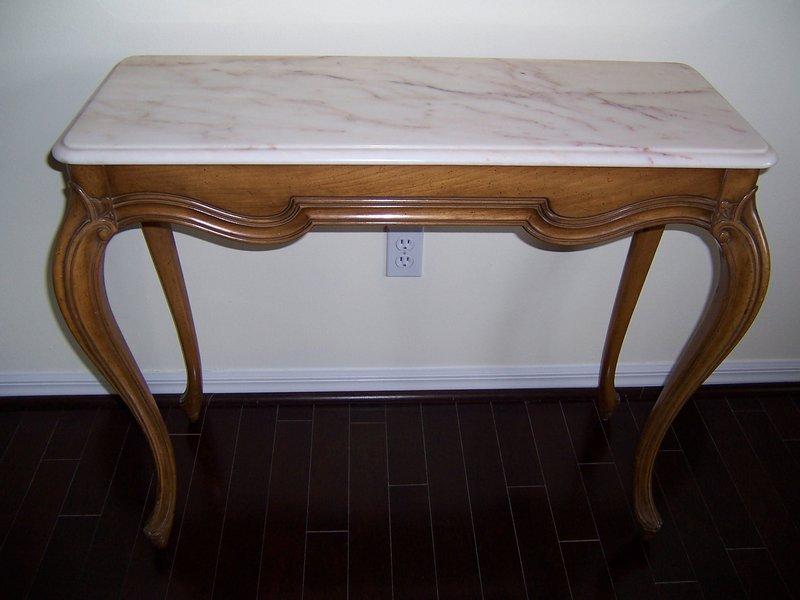 An Elegant Vintage Hardwood Console Table, ca 1950