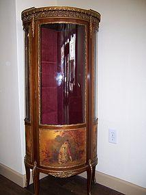 A Fine Vernis Martin Corner Display Cabinet, late 19th